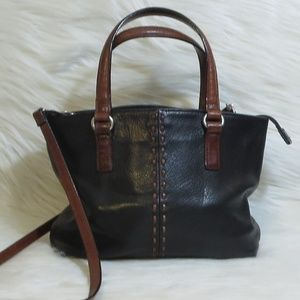 Fossil | Black/Brown Leather Satchel